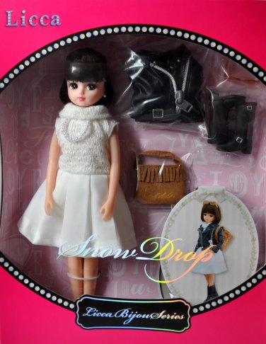 New Hot Takara Tomy Licca Bijou Series Snow Drop Licca-Chan 9 Inches Doll