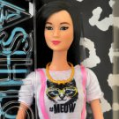Barbie Fashionistas Asian Lea Neko Doll Pink Kitty #Meow Dress 12 Inches Doll