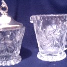 Crystal Sugar & Creamer Set