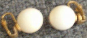 Vintage Ivory Earrings ~ Sphere