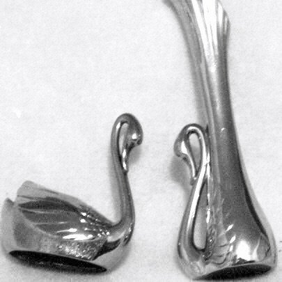 Silver Plated 2 Piece Swan Set