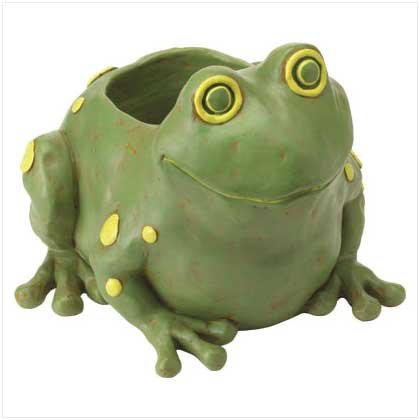 #37757 Cute Frog Container Statuary