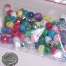 Mixed Color Asst Pony Beads  100+Pcs  S124 tnk-ent