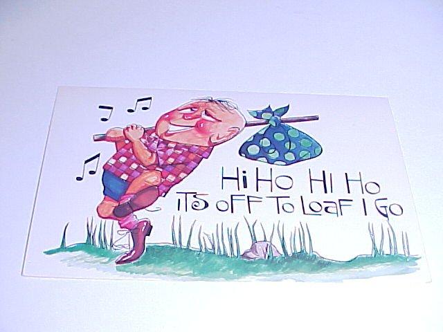 Vintage Humor Post Card postcard #PCG  tnk-ent