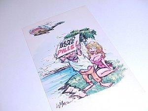 Vintage Humor Post Card postcard #PCB  tnk-ent