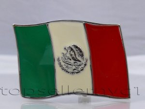 Brand New MEXICO FLAG BELT BUCKLE