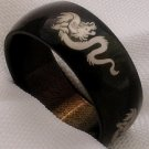 Unisex black stainless steel dragon jewelry ring band size 8
