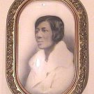 Photograph Black American Woman in Convex Frame