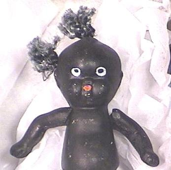 Occupied Japan Bisque Black Americana Doll