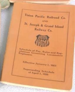 Union Pacific RR Booklet Pay Schedule Rules Regulations 1923