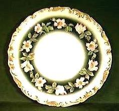 T & V LIMOGES Porcelain FLORAL PLATE Ca.1900