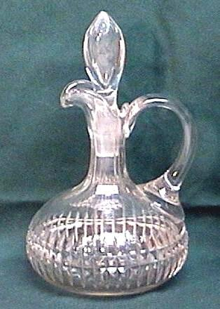 CUT GLASS Vintage CRUET with STOPPER