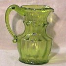 Kanawha Hand Blown Faceted MINI Pitcher Green