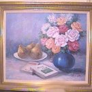Oil on Canvas Flowers & Fruit Still Life
