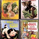 Four GOLDEN BOOKS Rabbit DUCK Elephant PUPPY Ship $2.55