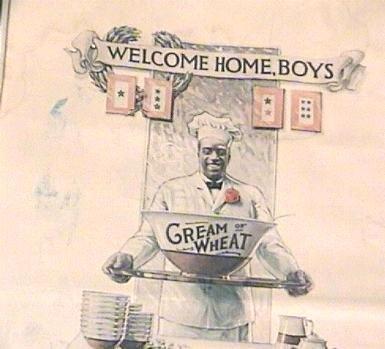 BLACK CHEF Cream Of Wheat AD 1919 WWI