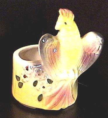Vintage Cockatoo Planter with Flowers