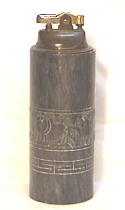 Vintage Engraved Marble Table Lighter