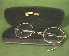 Vintage Gold Plated Spectacles with Case Circa 1920