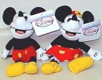'30's Mickey & Minnie Bean Bags JAPAN 1998