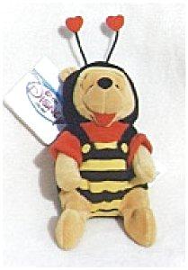 BUMBLE BEE Valentine POOH Bean Bag MWMT 1998