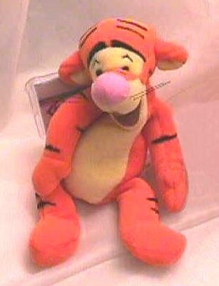 Disney TEST 9 Inch TIGGER Bean Bag MWMT 1997