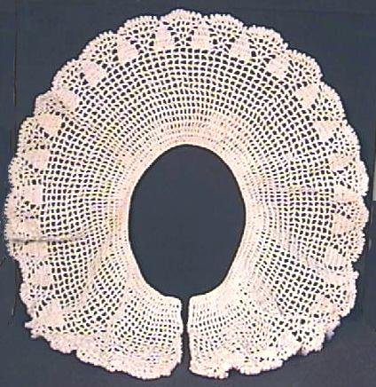 Large Crochet Collar with Pineapple Motif