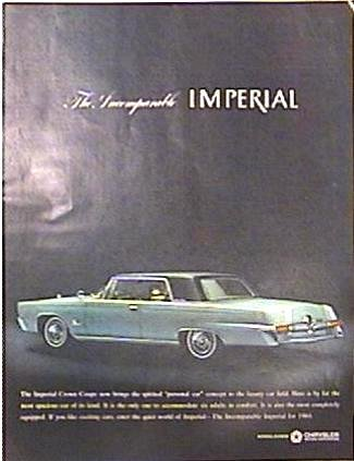 Color CHRYSLER IMPERIAL Magazine Ad 1963