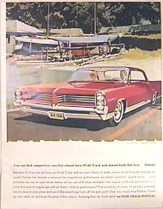 COLOR Full Page PONTIAC BONNEVILLE Ad 1963