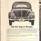 Volkswagon BEETLE Magazine AD 1963