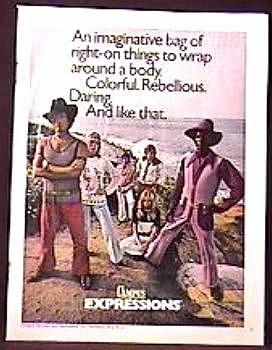 MOD Colorful SPORTSWEAR Magazine AD 1970