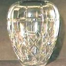 Elegant Cut Crystal Ovoid Vase
