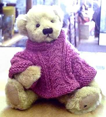 Ganz Artist Teddy Bear Daphne with Knit Sweater