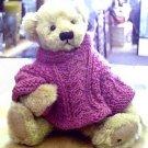 Ganz Artist Teddy Bear Daphne with Knit Sweater