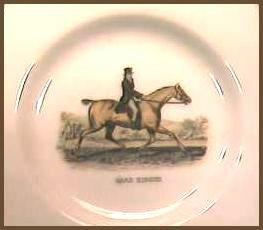 Porcelain Dish with Horse & Rider - France