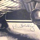 Bill Dickey Period Autograph on Pen & Ink Drawing 1934
