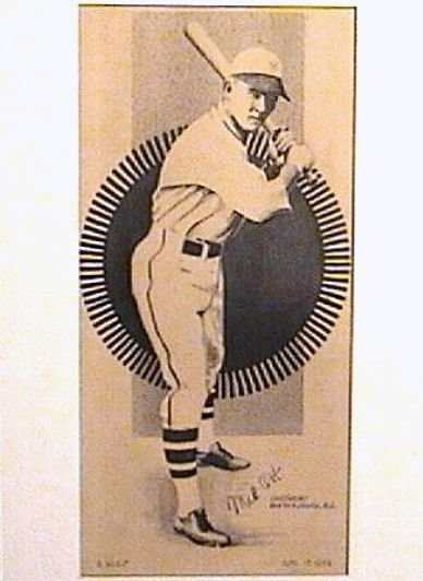 Mel Ott Period Autograph on Pen & Ink Drawing 1934