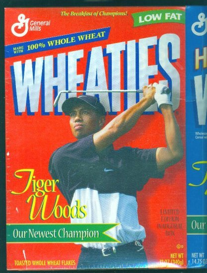 Two Tiger Woods Wheaties LTD ED Inaugural Boxes 1998