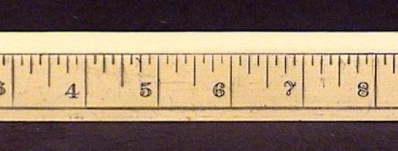 Vintage Celluloid 12 Inch Ruler French Ivory
