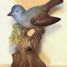 Blue Bird On Stump Flower Arranger made in Germany