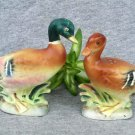 Vintage Bisque Mallards Salt & Pepper Shakers