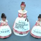 Enesco Prayer Lady 3-Piece Salt Pepper Napkin Holder