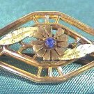 Hanky Pin with Blue Stone Ca.1900 Signed