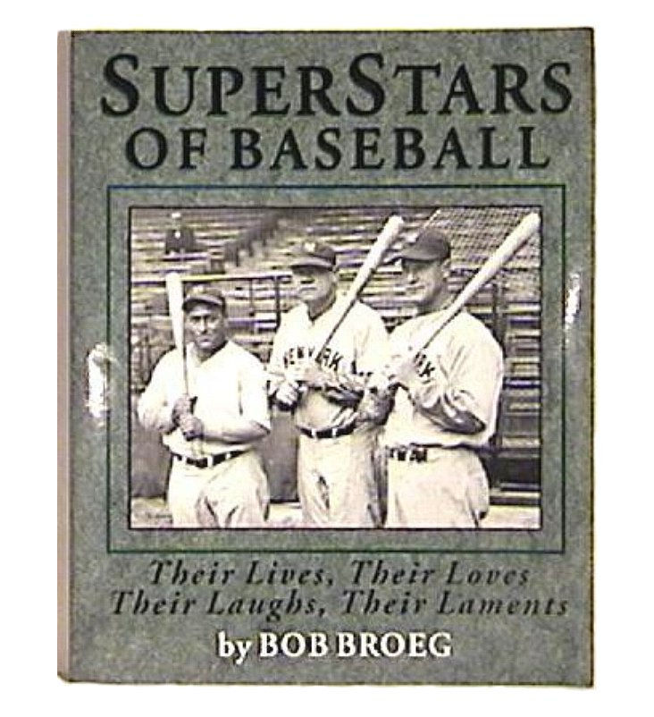 superstars of baseball by bob broeg ford aaron robinson mantle more. Black Bedroom Furniture Sets. Home Design Ideas