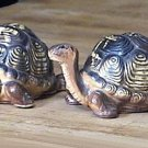 Vintage Tortoise Turtle Salt and Pepper Shakers