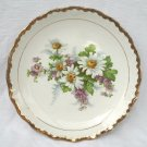 Semi-porcelain Daisies Plate - Gold Trim - McNicol China Ohio 1930s