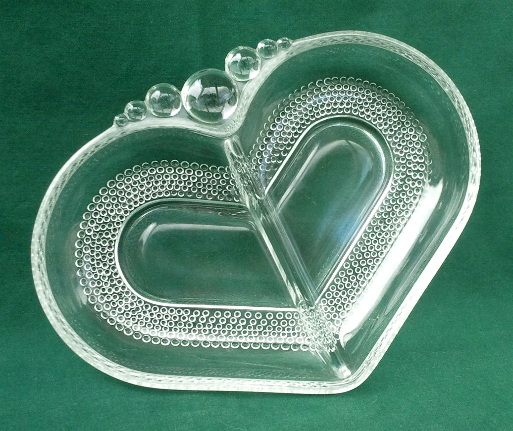 Duncan & Miller Teardrop Divided Relish Dish