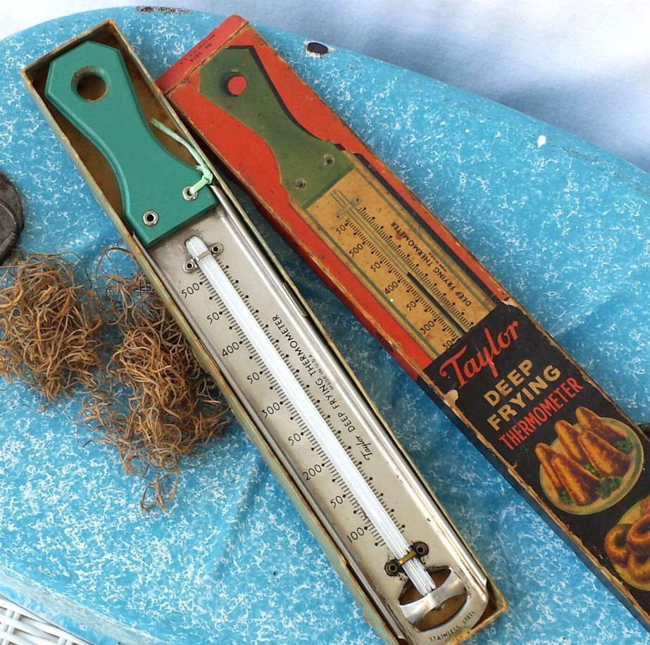 Taylor Deep Frying Thermometer 1934 with Box