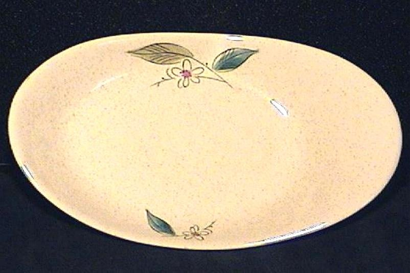 Paden City Pottery Retro Relish Dish 'Biscayne' Circa 1956