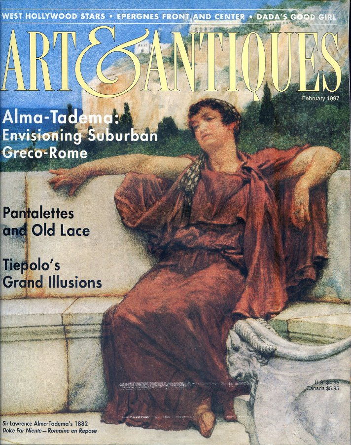 Art & Antiques Magazine Feb. 1997 - Victorian Underwear, Tiepolo, Victorians Revisit Ancient Rome